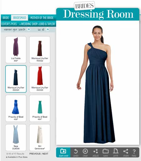 You Can Also Ask Your Bridesmaids To Use This Site Find Their Dress Style