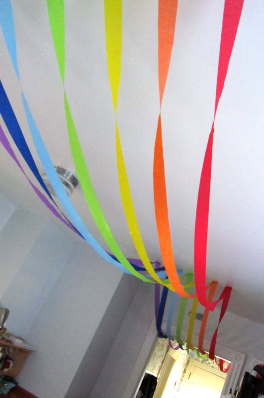 from house to home rainbow birthday party