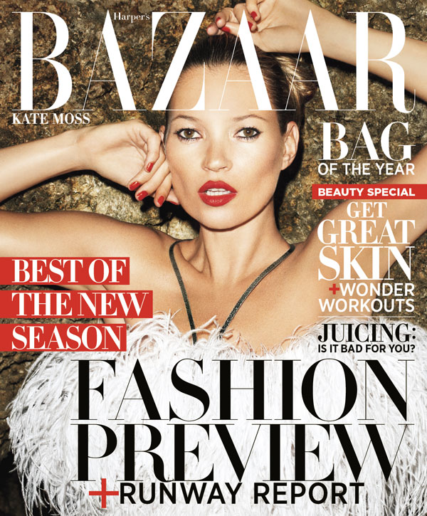US Harper's Bazaar June / July 2012 : Kate Moss by Terry Richardson