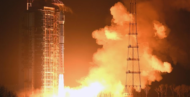 Chinese Long March 4C booster lifts off the Yaogan-29 satellite on Nov. 26, 2015. Photo Credit: Xinhua
