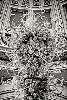 Grand Glass Chandelier at the Victoria and Albert Museum in London