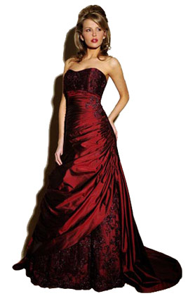 Fashion uk bridal red color dresses fashion image