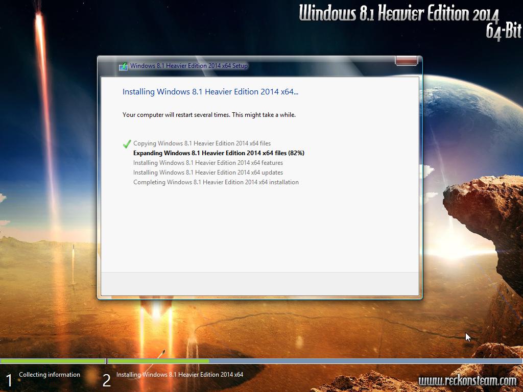 Windows 8.1 Heavier Edition 2014 x64 Genuine Version