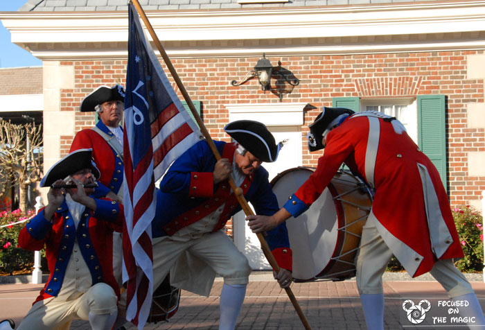 Spirit of America Fife and Drum Corps Epcot American Adventure