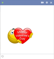 Emoticon Of Valentine's Smiley