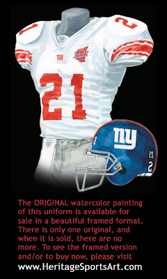 New York Giants 2007 uniform
