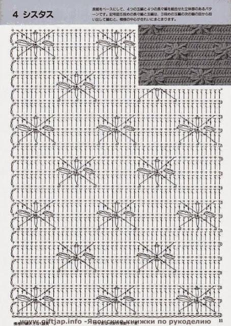 Схема плотного узора крючком