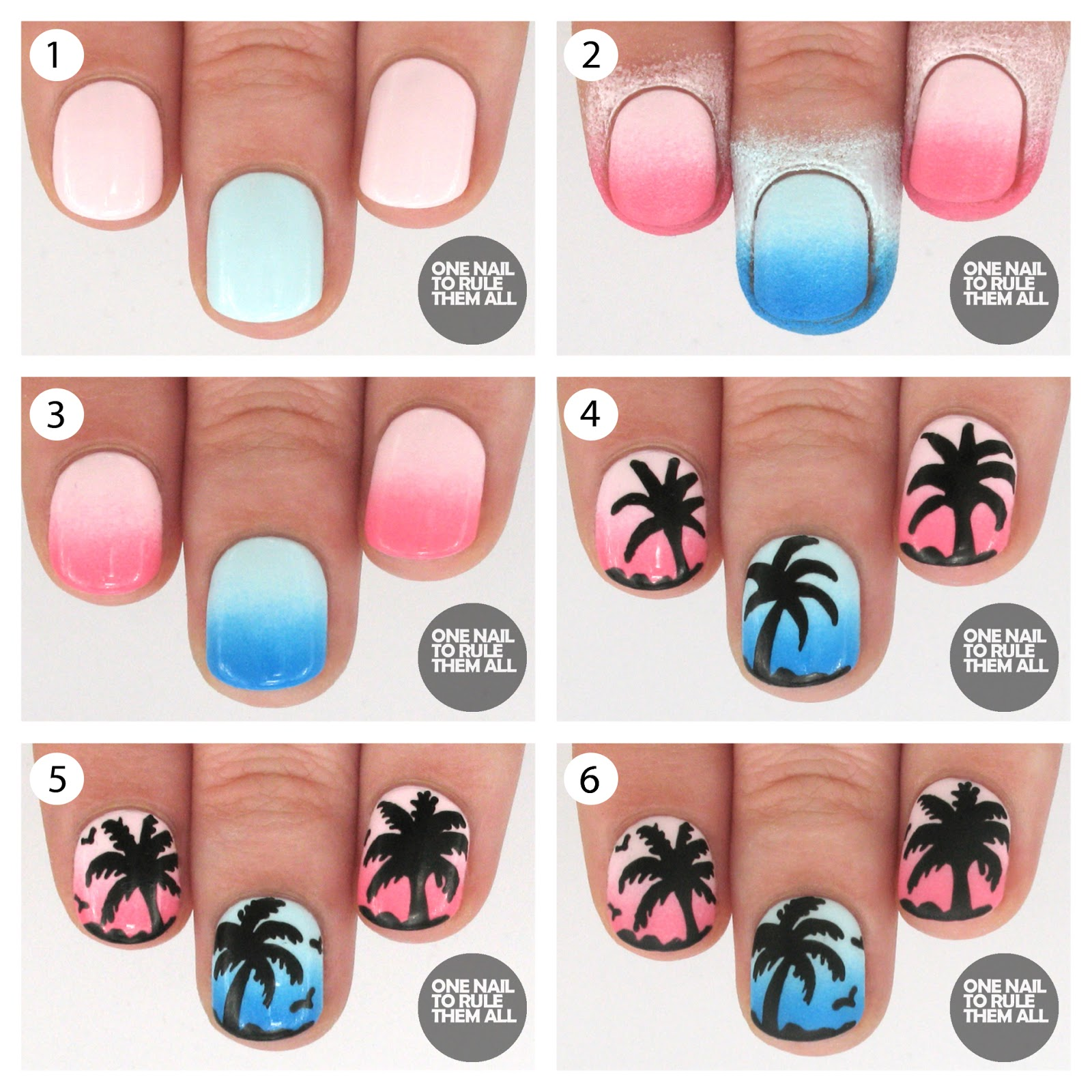 One Nail To Rule Them All: Tutorial Tuesday: Palm Trees + Barry M ...