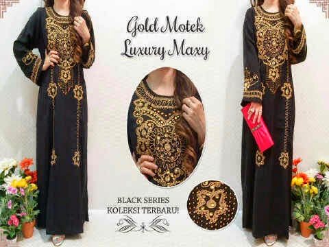 Material jetblack (bhn tebal) ornament payet mote. Fit to XL