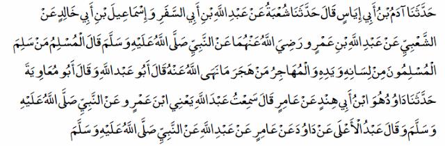seorang muslim hendaklah menahan kejahatan lisan dan tangannya