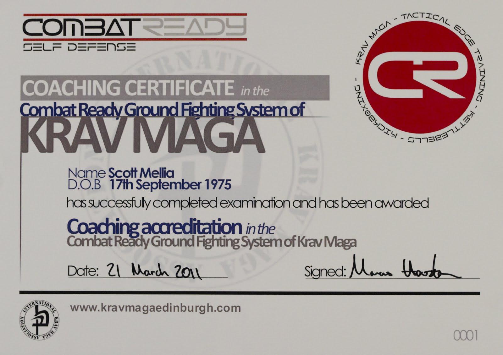 Krav Maga Edinburgh Blog Congratulations To Scott Mellia