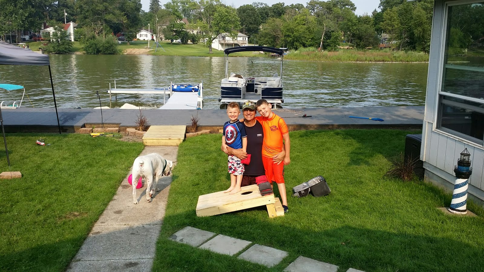 At the lake with My Little Buddies