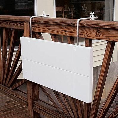 Ideas veraniegas para balcones peque os for Mesa plegable para balcon