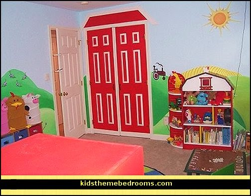 barnyard room decorating ideas - farm animals theme bedrooms