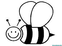 Mewarnai Gambar Lebah Lucu Terbang