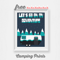 Camping Wall Art: Free Printables for All Things Thrifty