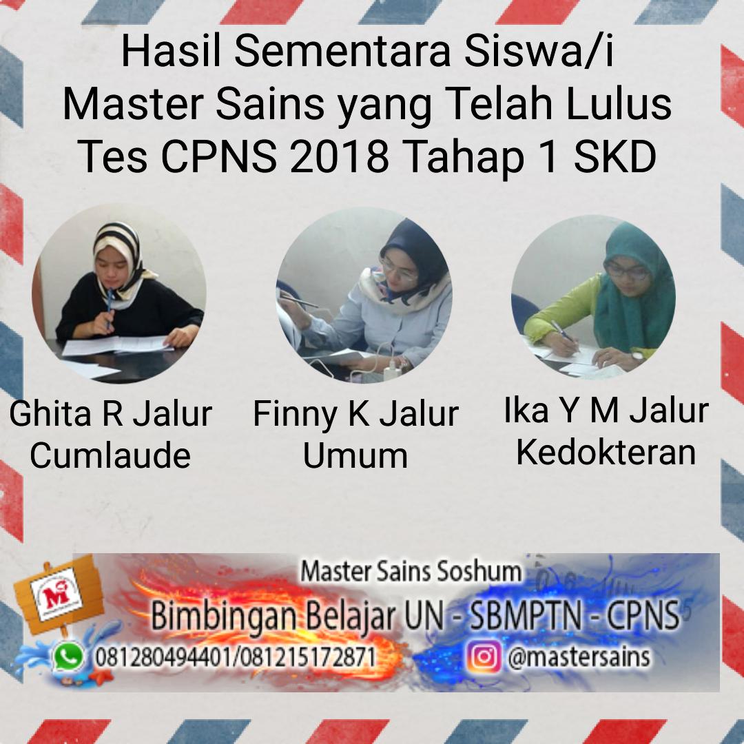 Daftar Sementara Lulus Tes CPNS 2018
