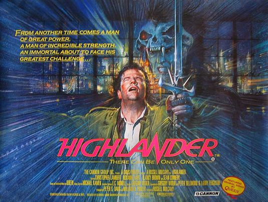 Highlander movie poster