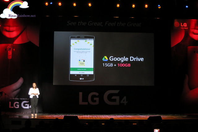LG G4 Free Google Drive space