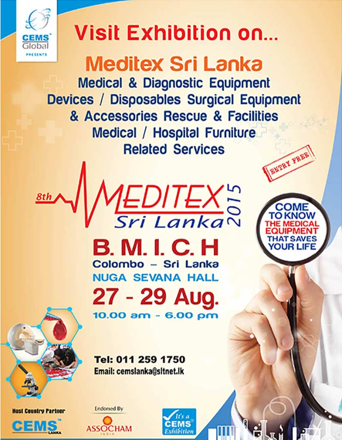 Set to be Sri Lanka's  leading  International Exhibition on Medical Equipments, Surgical Instruments, Healthcare, Hospital Equipments & Supplies
