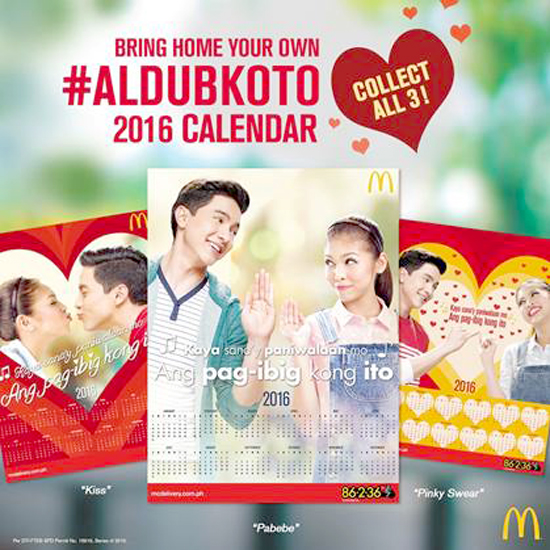#AlDubKoTo 2016 calendar
