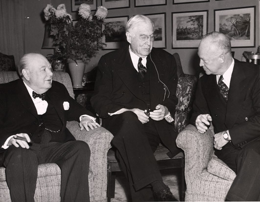 Bernard Baruch Winston Churchill Dwight Eisenhower 1953