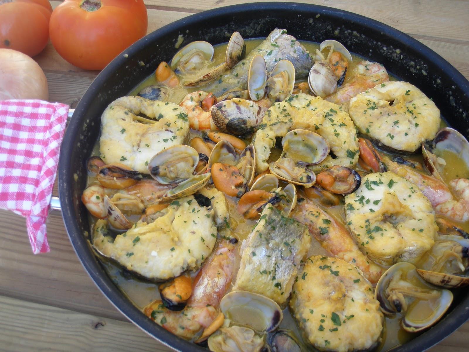 Cazuela de pescado al cava el jard n de mis recetas for Preparacion de jardines