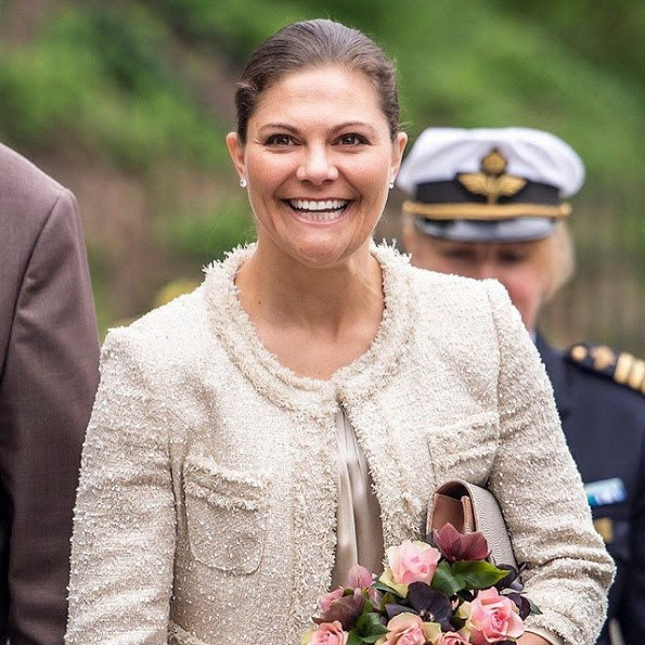 Princess Victoria Attends A Meeting In Stockholm