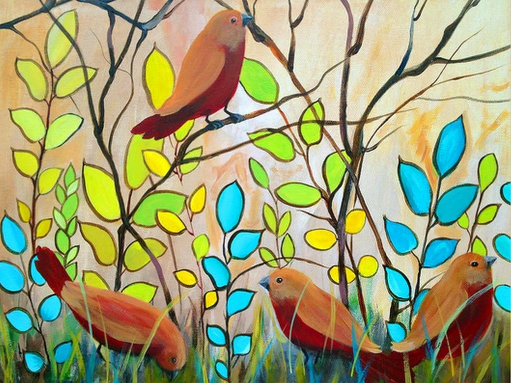Cuadros modernos pinturas y dibujos pinturas florales for Imagenes de cuadros abstractos faciles