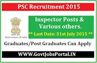 Tripura PSC Recruitment 2015