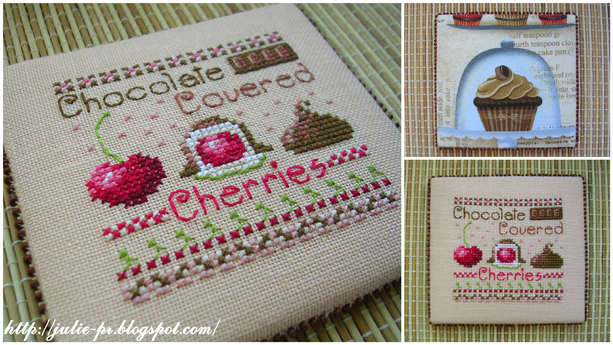 Casey Buonaugurio Chocolate Covered Cherries pinkeep пинкип вышивка cross stitch пирожные