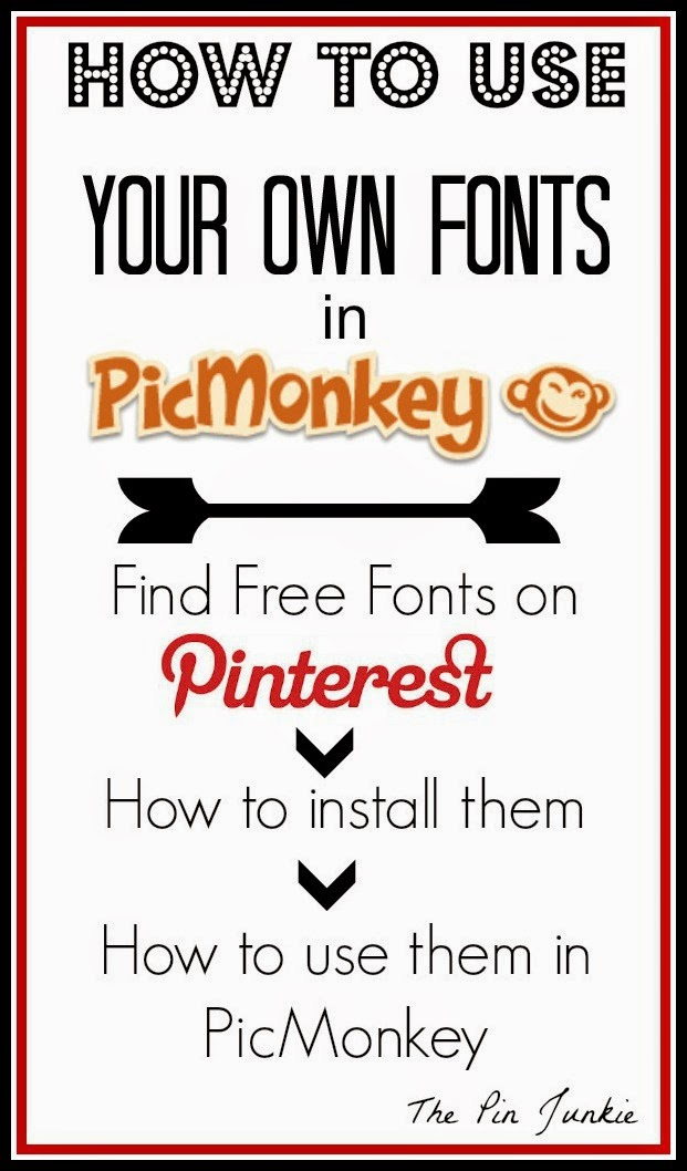 how to download fonts use in picMonkey