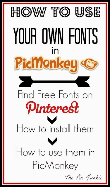 how to use your own fonts in PicMonkey