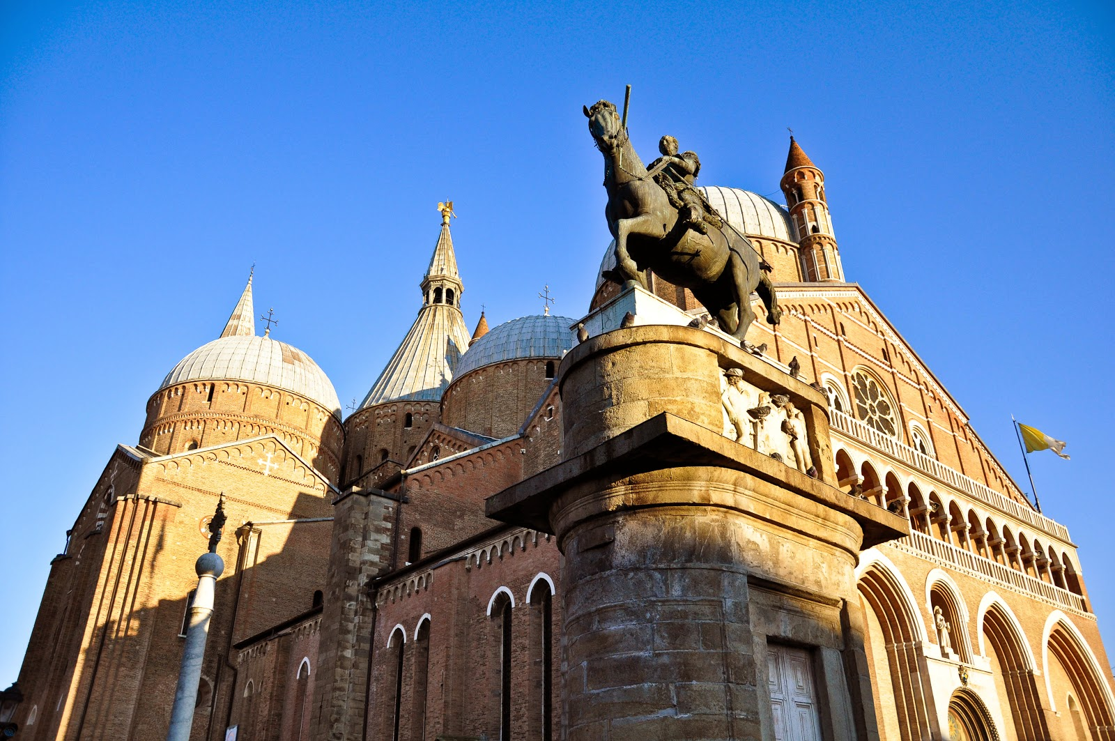 A horseman by Donatello in Padua, Italy