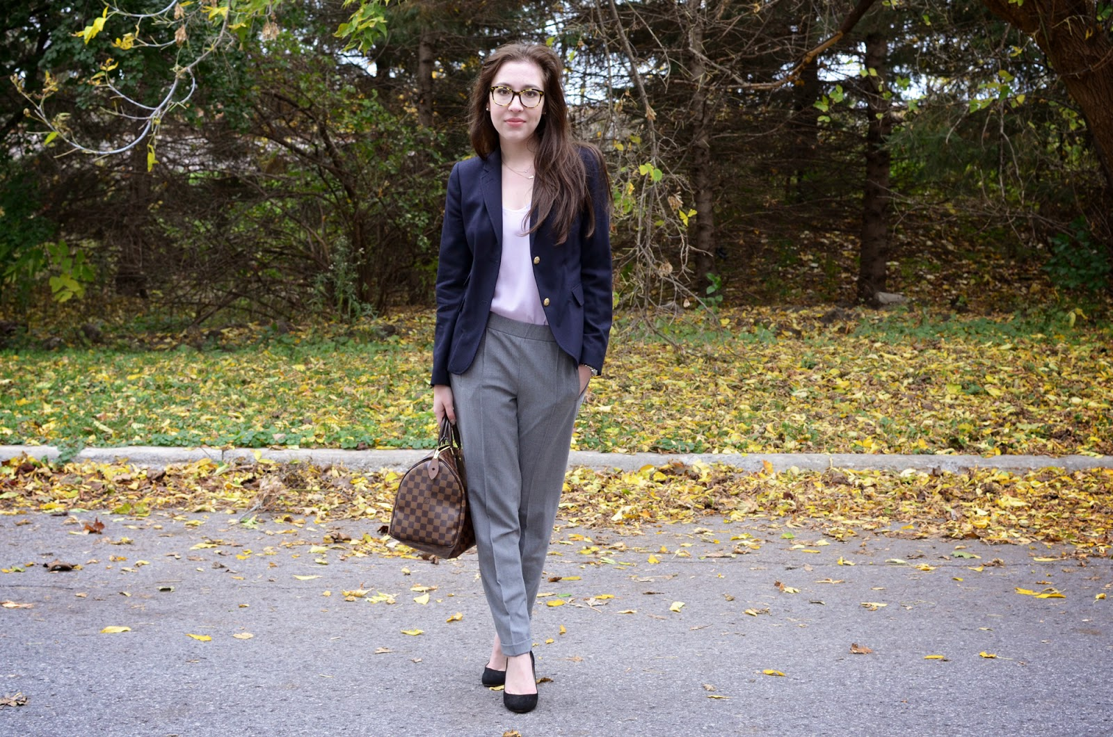 A neutral OOTD for work, ft. Zara, J.Crew, Aritzia, and Louis Vuitton