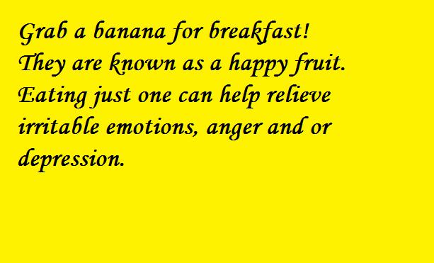 Banana is a happy fruit