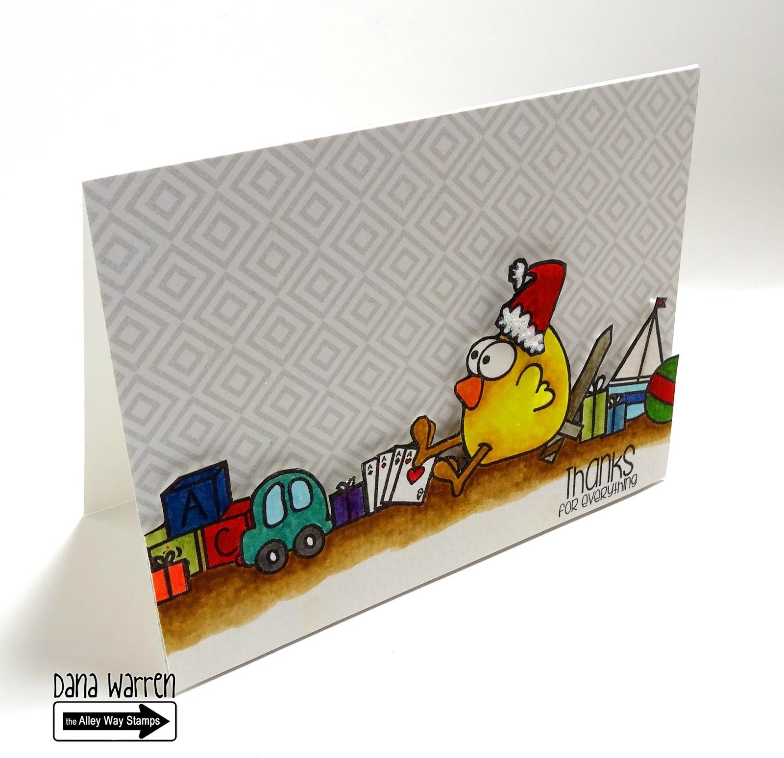 Dana Warren -Kraft Paper Stamps - The Alley Way Stamps