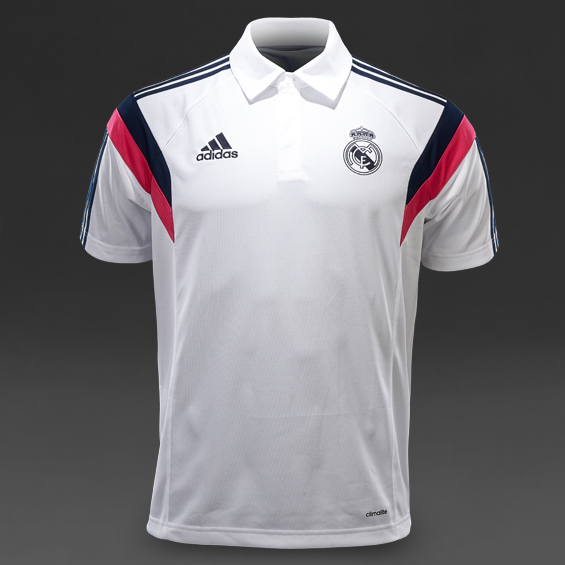 New Soccer Jersey Training Wear POLO Shirt White Real Madrid 2015 Football Shirt JAMES BALE KROOS