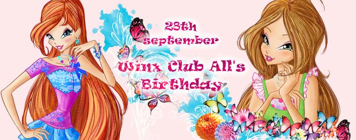 28 de Septiembre cumpleaños de la creadora de Winx Club All