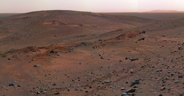Fotografía de Marte tomada por el Spirit. Autor: NASA/JPL