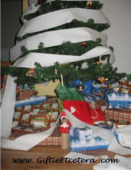 Elf on the Shelf Ideas, toilet paper