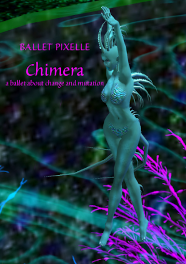 """Ballet Pixelle® will premiere its 20th original ballet, """"Chimera"""", Sunday,  April 12, 2015, at 5:00 pm"""