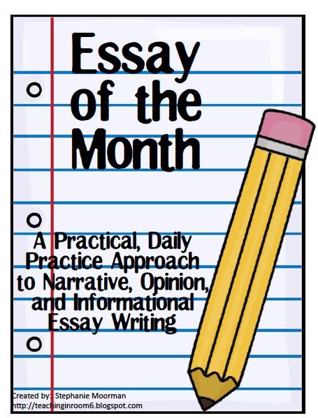 http://www.teacherspayteachers.com/Product/Essay-of-the-Month-990537