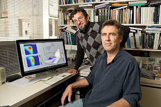 From left: Sergei Gepshtein and Thomas D. Albright. (Credit: Courtesy of the Salk Institute for Biological Studies)