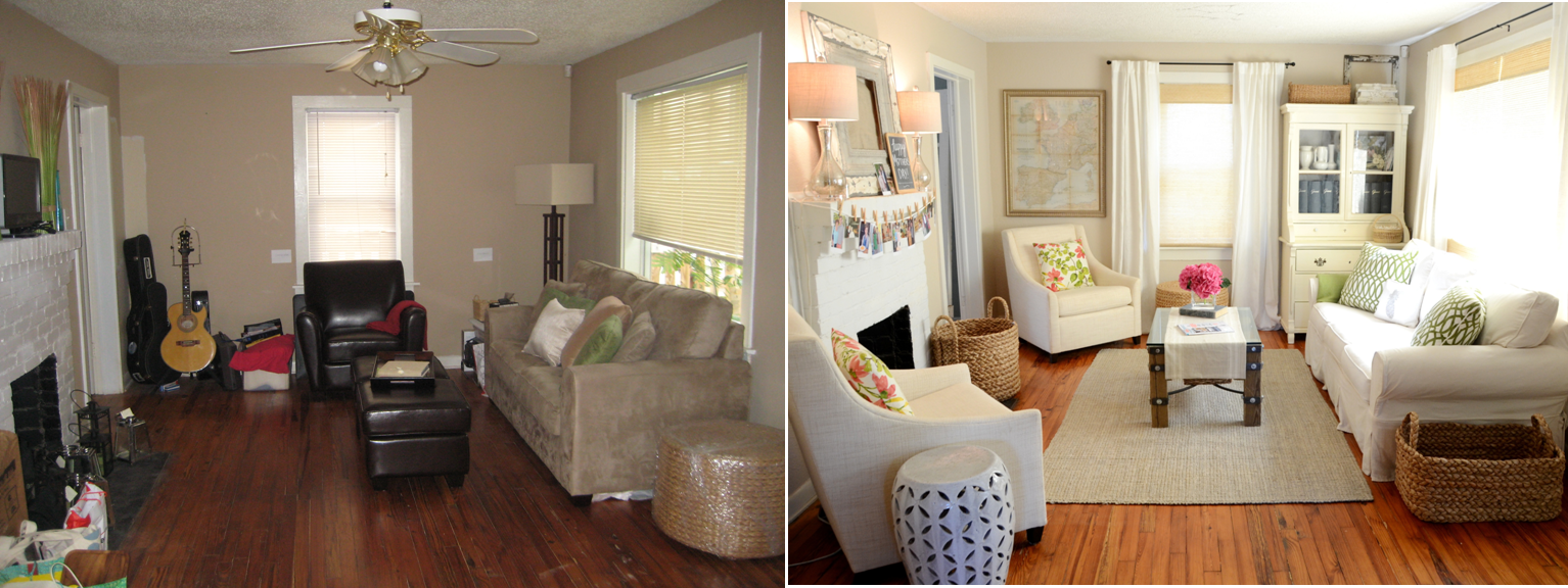 Iron twine living room before after for Living room makeovers