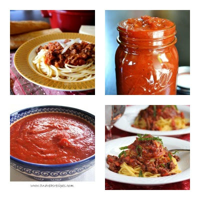 Slow Cooker Pasta Sauce Recipes from food bloggers found on Slow Cooker from Scratch.com