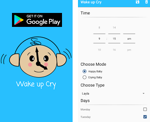 Android App of the Month - Wake Up Cry Alarm
