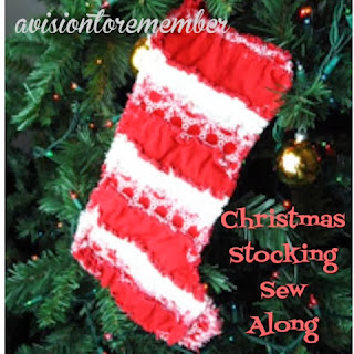 how to clip a rag quilt christmas stocking