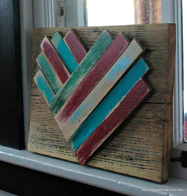 wood shims, valentines decor, rustic heart, wood, heart decor, reclaimed wood, http://bec4-beyondthepicketfence.blogspot.com/2016/01/wood-shim-heart.html