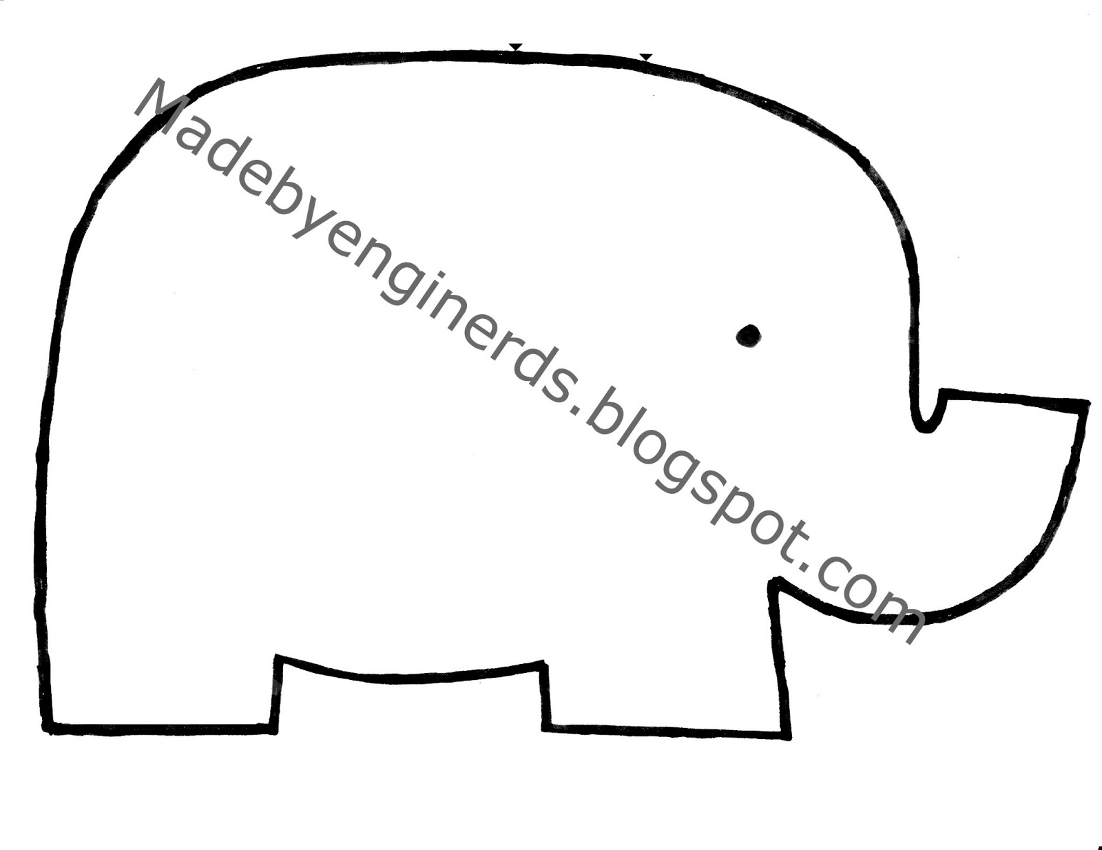 Made by enginerds elephant stuffed animal tutorial with for Stuffed animal templates free